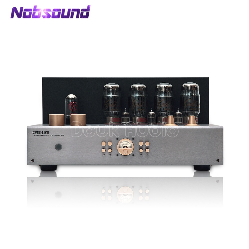2018 Latest Nobsound Hi-end GOLD LION KT88 Vacuum Push-Pull Tube Integrated Amplifier Audio Stereo HiFi Power Amp 60W*2 2017 new nobsound hifi hi end audio noise power purifier tube amplifier home audio power supply filter ac socket