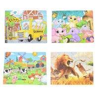 Детская игрушка деревянные головоломки маленький размер 15*15 см деревянные головоломки для детей Детские мультфильм Развивающие головолом