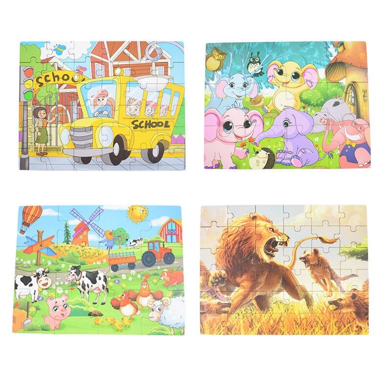 Enfants Jouet En Bois Puzzle Petite Taille 15*15 cm En Bois Puzzle Pour Enfants Bébé de Bande Dessinée Puzzles Jouet Éducatif