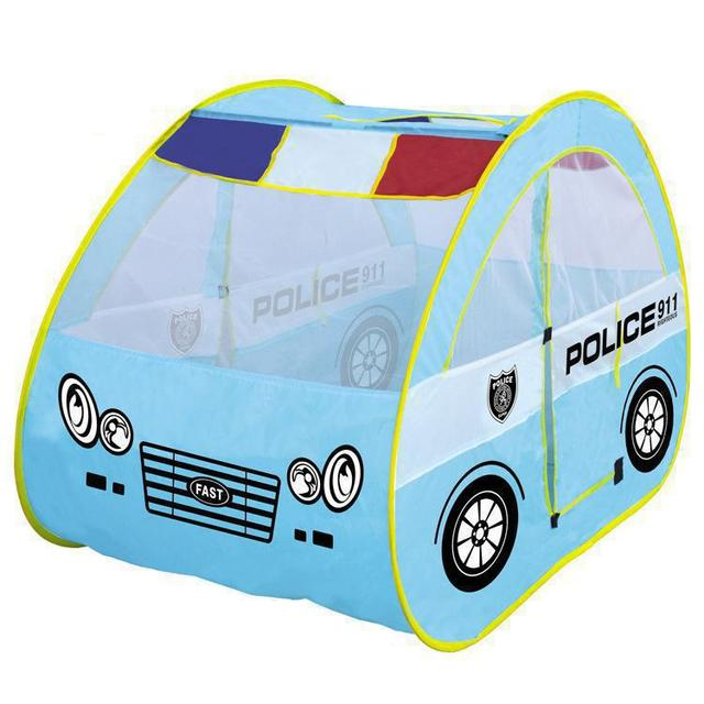 BOHS Children's Large Games Police Playhouse Patrol Car Shape Tent House Baby  Toys  Cartoon Wholesale