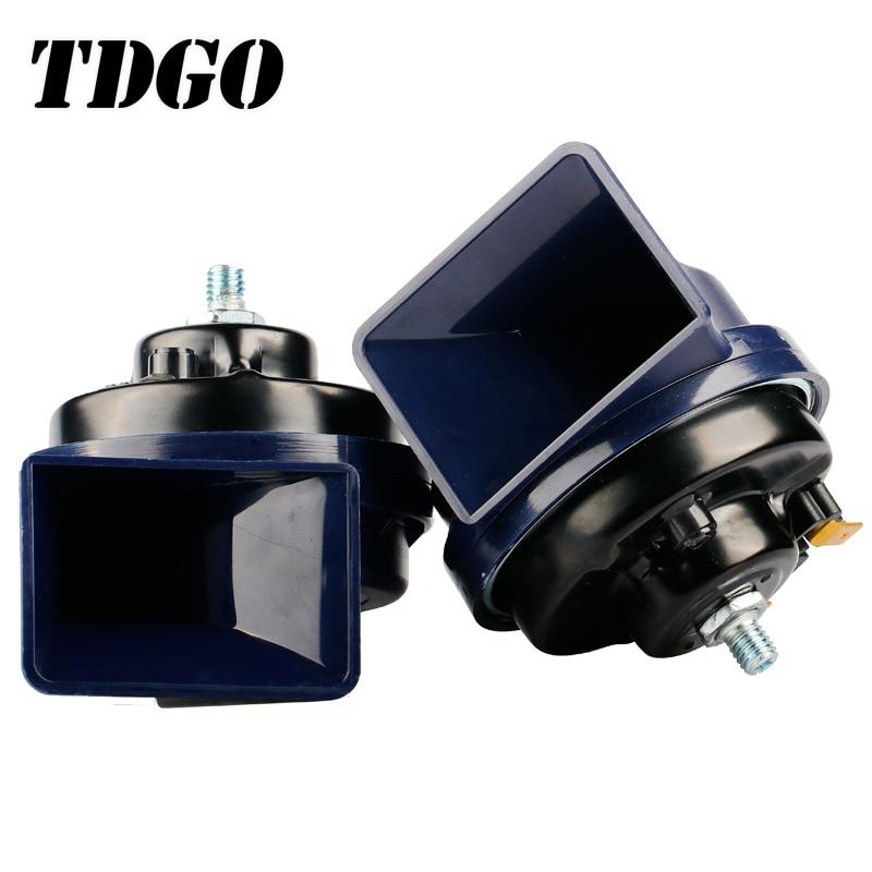 TDGO Hot Sale Long Life 30W Car Horn Loud Sound Snail Horn 12v Truck Electric Vehicle