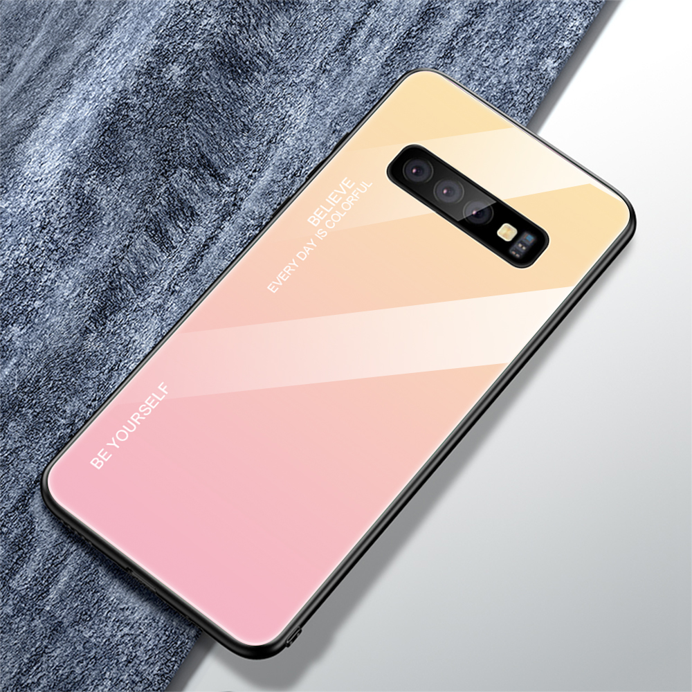 For Samsung Galaxy S10 Plus S10 Lite Case Gradient Tempered Glass Phone Cases For Samsung S10 S9 S8 Plus Note 9 Note 8 Cover     (16)