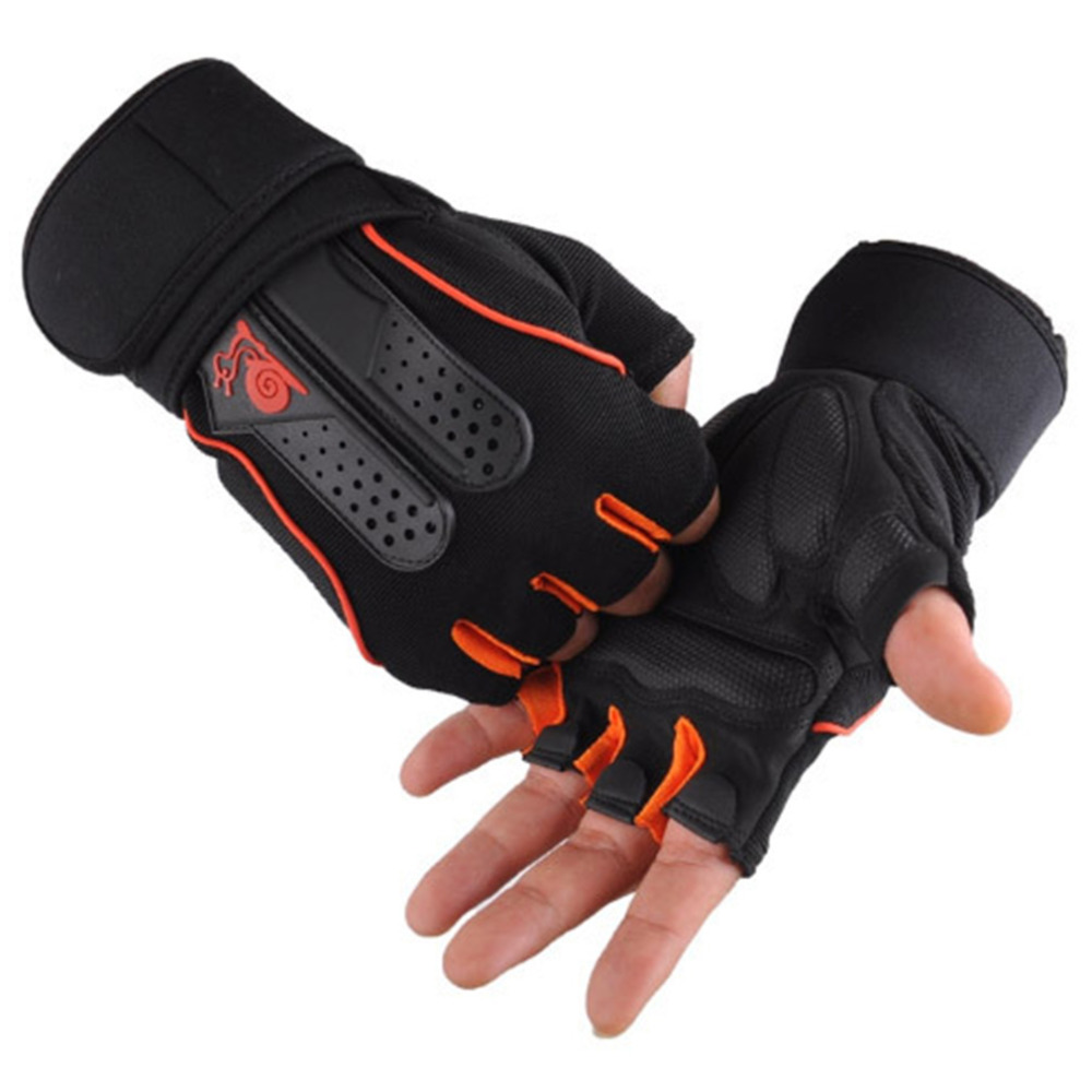 M-XL Men Women Cycling Gloves Professional Breathable Gym Weight Lifting Dumbbell Fitness Half Finger Gloves For Outdoor Sports