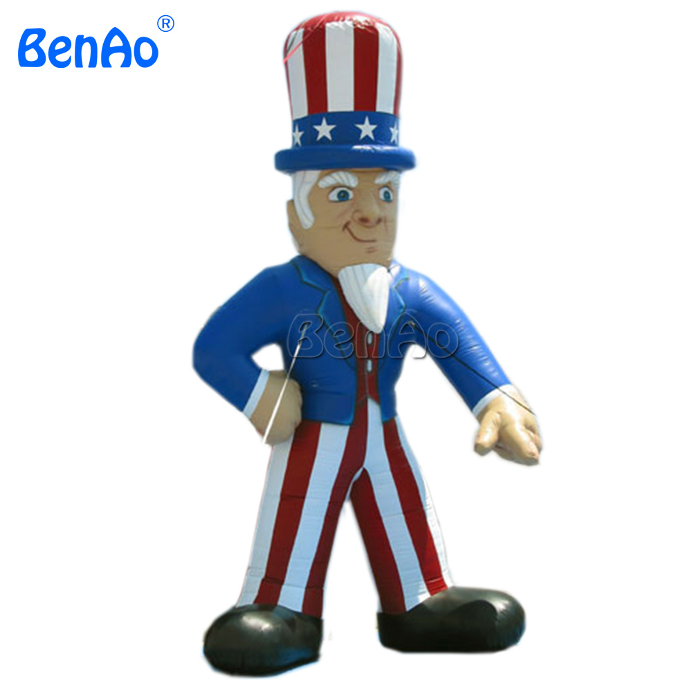 AC096 BENAO Free shipping 8m strong oxford cloth Hot Cartoon Inflatable Sale Promotional Customized Uncle Sam For AdvertisingAC096 BENAO Free shipping 8m strong oxford cloth Hot Cartoon Inflatable Sale Promotional Customized Uncle Sam For Advertising