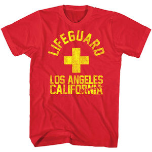 Baywatch cankurtaran Los Angeles plaj erkek T Shirt TV kaliforniya Vintage OceanO boyun gömlek artı boyutu T-Shirt