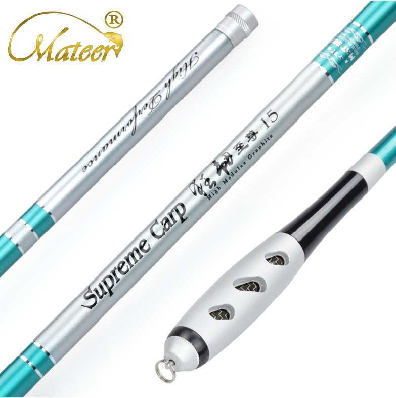 ФОТО Carbon fishing rod 3.6~7.2 mTaiwan Fishing Rod  Carbon Ultralight superhard,Metal handle with Gift package