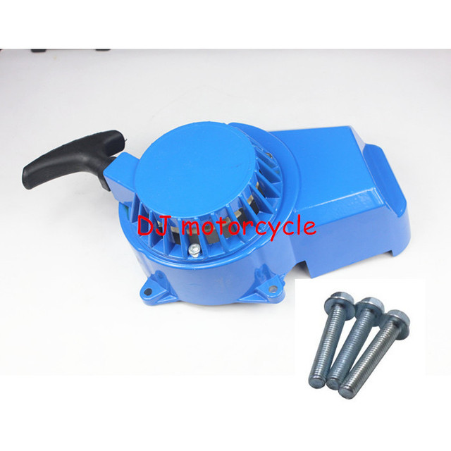 High Performance Alloy Blue Pocket Bike Pull Start  Metal Pull Starter With Bolt Screw For Mini Motor Gas Scooter