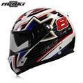 NENKI Fiberglass Motorcycle helmet Full Face Moto 856UK Capacetes Motociclismo Cascos Para Moto Casque Motosiklet Kask Helmets