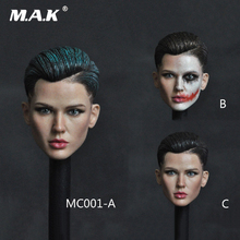 MC001 1/6 Female Head Sculpt Ruby Rose Neutral Handsome Extreme Agent Carved Model for 12 Action Figure Body Accessory