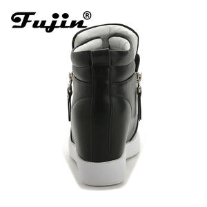 Image 4 - FUJIN Brand Women Ankle Boots Winter Keep Warm Shoes Lace Up Pu Leather Female Shoes Comfotable for Women Shoes