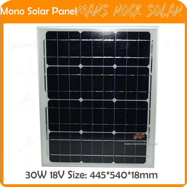30W 18V PV Mono Small Solar Panel with Frame certificated by CE,TUV,RoHS,UL high quality 30w led pendant light with ce emc saa rohs gs ul