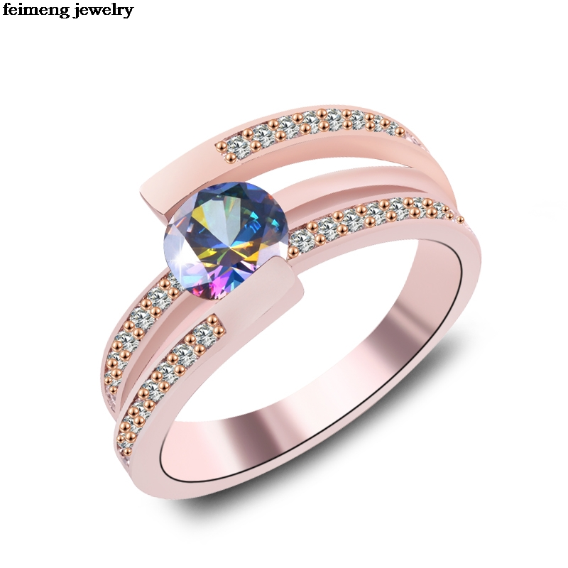 Wholesale irregular Zircon female black/White Opal Ring silver/Rose gold Jewelry Vintage Wedding Rings For Women Christmas Gifts szjinao unique custom women jewelry luxury elegant natural white zircon rose gold 925 silver wedding rings wholesale