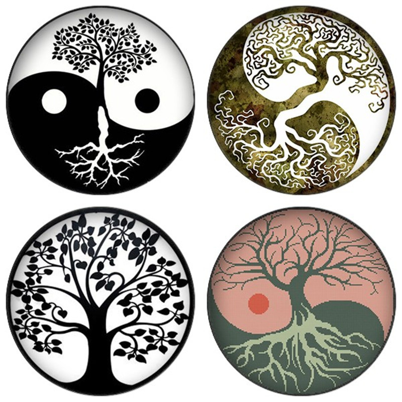 1.5 image for pendants glass cabochons charm resin pendants Yin and yang Paws and Hearts  Pink Vintage 30mm 25mm 1.25 1/'/' circles
