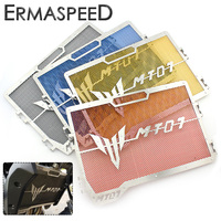 Motorcycle Radiator Guard Stainless Steel Grille Protector Bezel Cover Blue Gold Red Black For Yamaha MT07