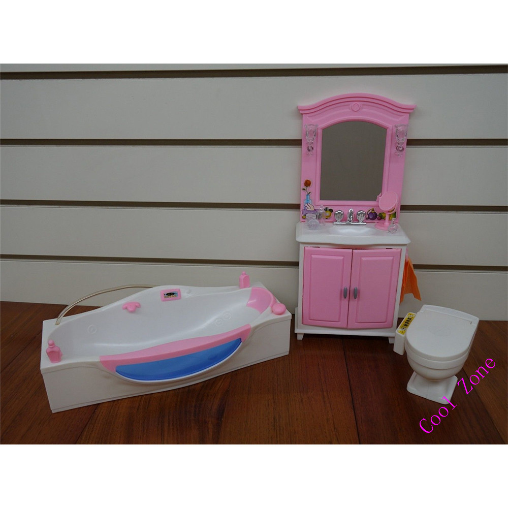 barbie size dollhouse furniture set. Miniature Bathroom Furniture For Barbie Doll House Pretend Play Toys Girl Free Shipping-in Dolls Accessories From \u0026 Hobbies On Aliexpress.com Size Dollhouse Set S