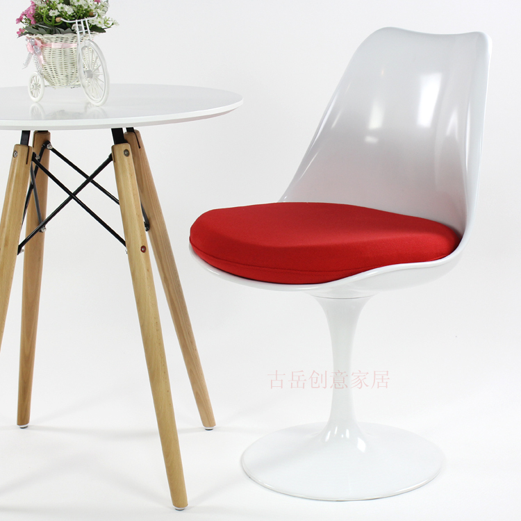 Dining Small Tulip Chair IKEA Bedroom Stylish Simplicity Casual Computer Swivel Armchair ABS Plastic In