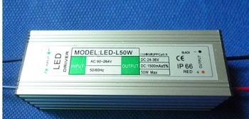 new LED driver input AC 90-264 V 50W 10S5P 1500mA waterproof constant current power high PF Isolated output DC 24-36 V 5 pcs waterproof 50w led driver constant current driver ac110v 265v to dc 20 39v 1500ma for 50w chip 10 series 5 parallel