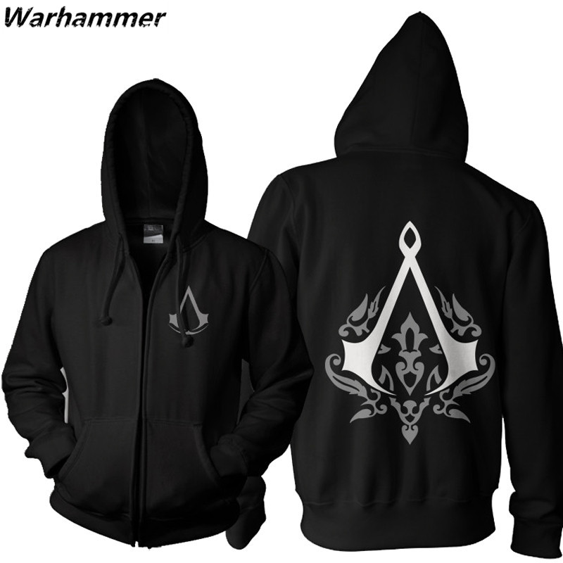 assassin 39 s creed unity mens hoodie sweatshirt zipper up. Black Bedroom Furniture Sets. Home Design Ideas