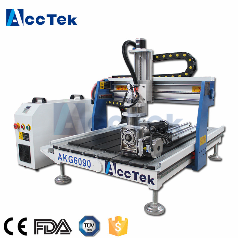 Good price cnc engraving machine with rotary axis 6090 router cnc 0609 cnc 4 axis router
