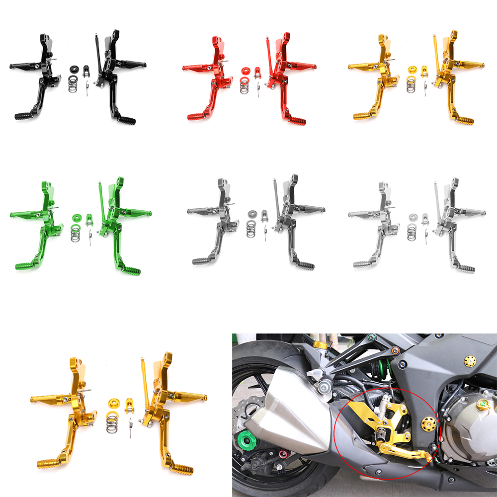 For Kawasaki Z 1000 2012 2013 2014 2015 2016 Motorcycle rider CNC Adjustable Rider Rear Sets Rearset Footrest Foot Rest Pegs motorcycle cnc adjustable rider rear sets rearset footrest foot rest pegs for ktm duke 125 200 390 2011 2012 2013 2014 2015 2016