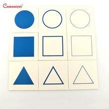 מונטסורי קבינט גיאומטרי מינוח כרטיסי 9 Pcs נייר בית משחק מוקדם חינוך בגיל רך חושי צעצועי ילדים