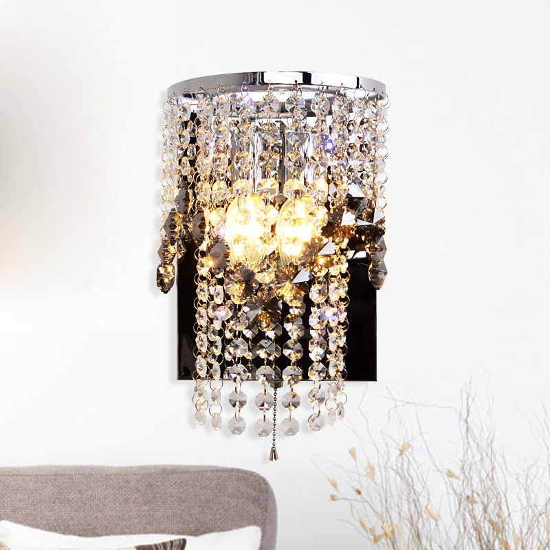 Hanging Wall Lamps online get cheap modern crystals hanging bathroom wall light