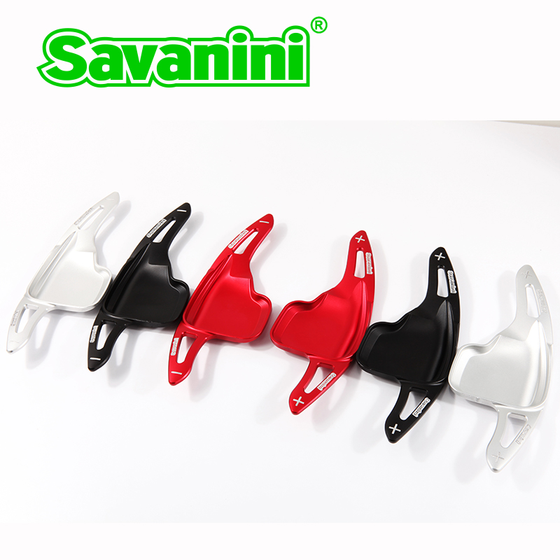 Savaini Brand 2pcs High Quality Aluminum Steering Wheel Shift Paddle Shifter Extension new For Bmw F30 F10 3 series 5series F32  цены