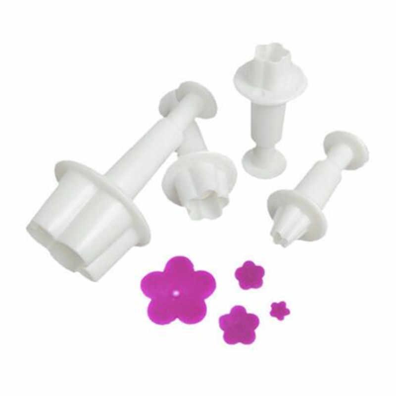 4 יח'\סט שזיף פריחת פרח טובל יצק קאטר Sugarcraft עוגת קישוט כלים DIY קוקי סטמפר אפיית אבזרים