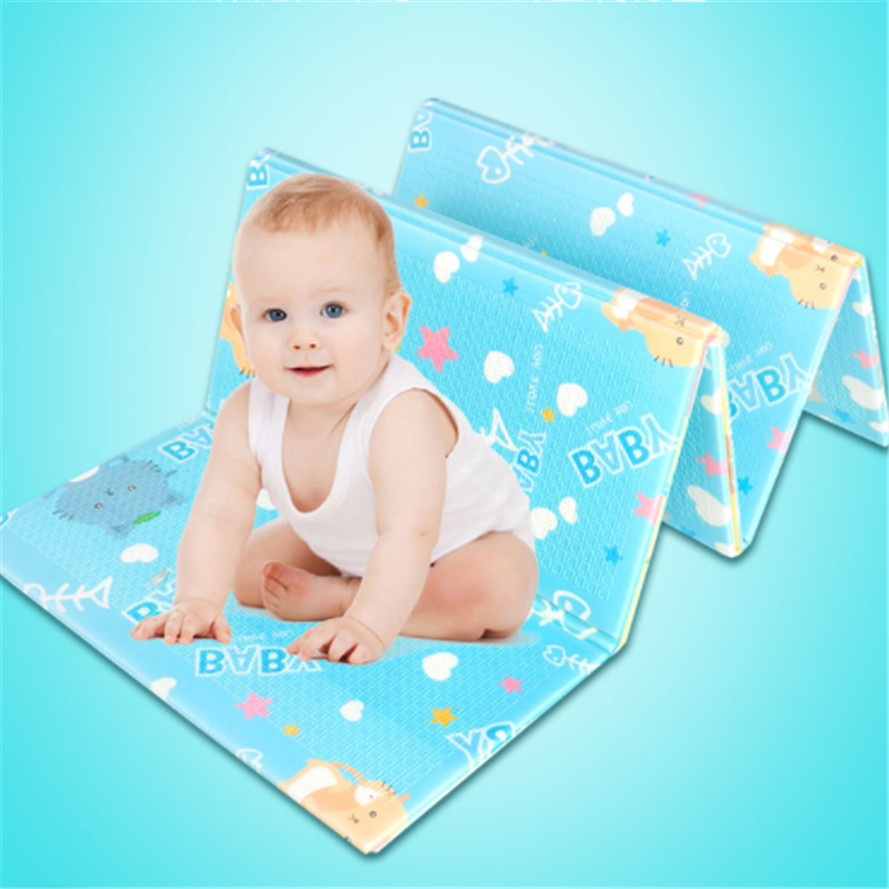 Baby Crawling Mat 2.0*1.5M /2.0*1.8M Thick Double-sided Environmentally Friendly Baby Living Room Home Odorless Folding Splicing
