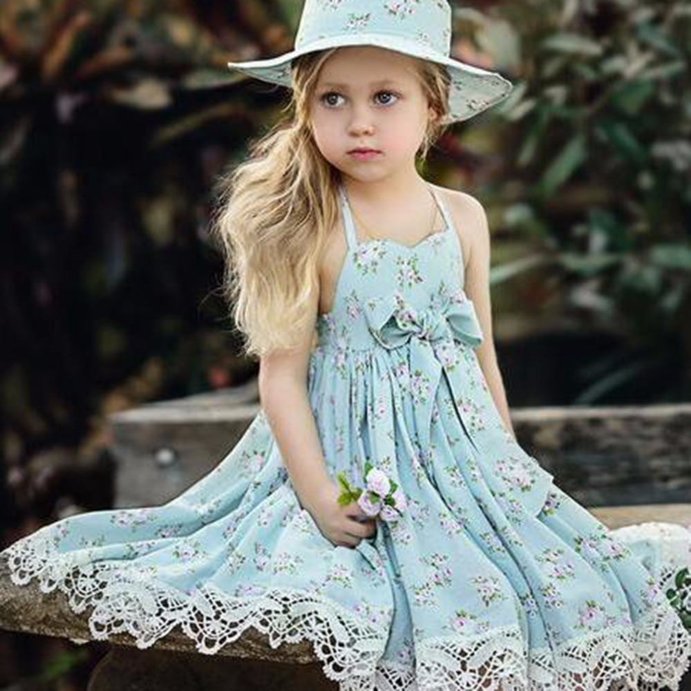 Puseky 2018 Fashion Summer Girl Dresses Wedding Party Children Lace ...