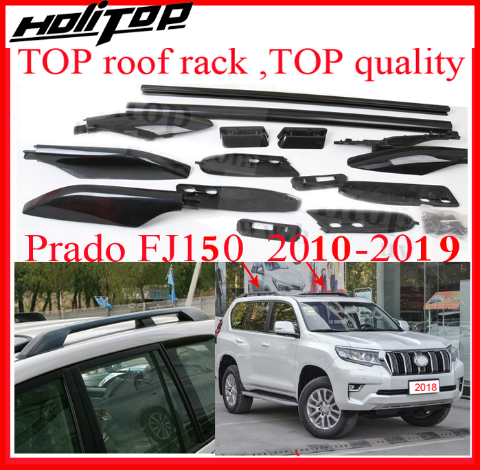 roof rack/roof rail/roof bar for Toyota Land Cruiser PRADO UZJ150 LC150 FJ150 FJ 150,TOP quality,powerful genuine,2010-2019 exterior car styling metal silver luggage carrier roof rack rails bar trim for toyota land cruiser prado j150 2010 2018