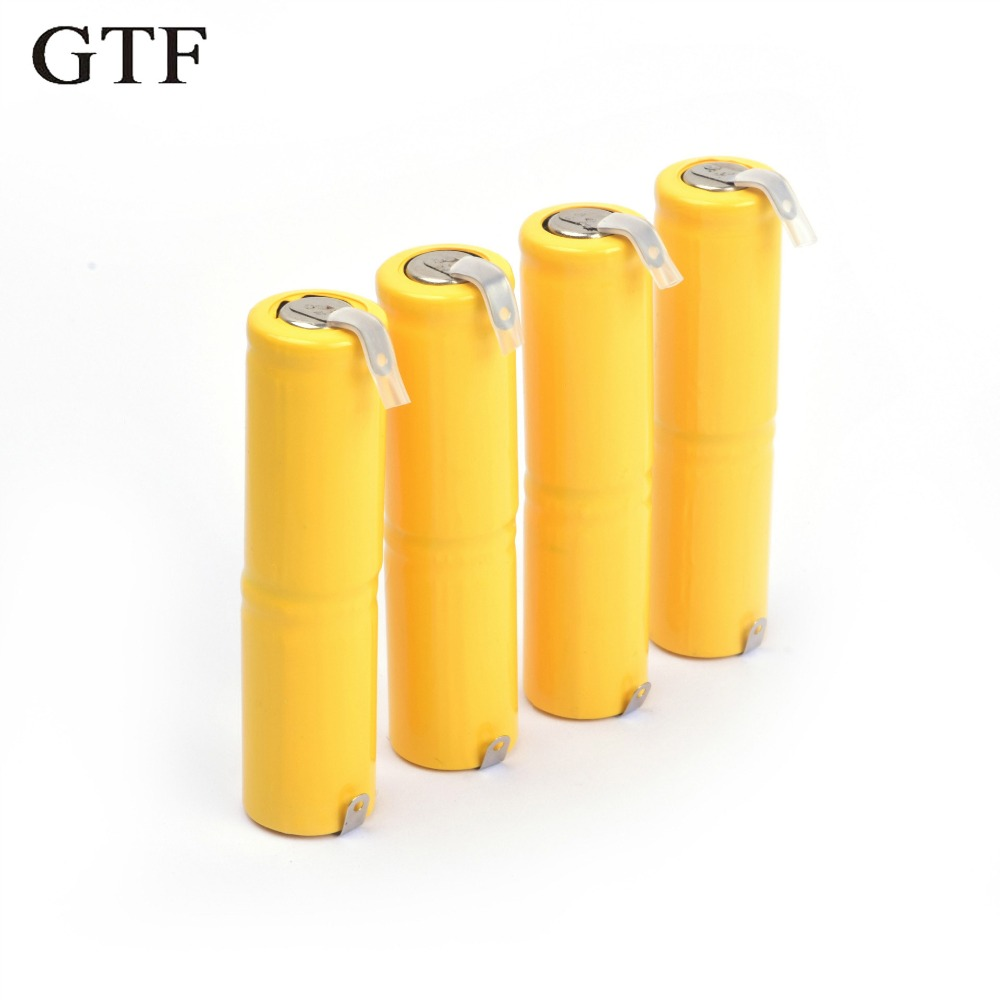 GTF 4pcs rechargeable battery 2/3AA 2.4V battery pack Nickel-cadmium rechargeable batter ...