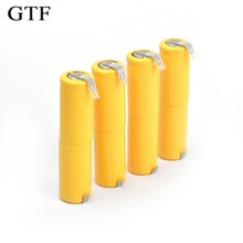 GTF 4pcs rechargeable battery 2/3AA 2.4V pack Nickel-cadmium AA For RC Toy shaver LED light