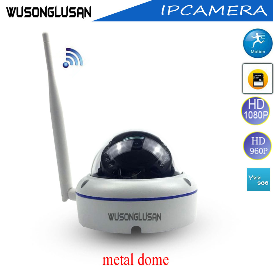 Outdoor Wifi IP Dome Camera 720P 960P 1080P Yoosee 15 Ir led Support Onvif P2P SD Card Motion Detector for CCTV Video Security azishn yoosee wifi onvif ip camera 1080p 960p 720p wireless wired p2p alarm cctv outdoor camera with sd card slot max 128g