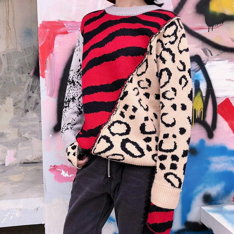 Streetwear Chandails Hiver Femmes Laine De Mode Chandail Multicolore En Whitney Pull Automne Wang 2018 Léopard wqafxZpH