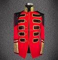 Nuevo estilo moda rojo Color Business Casual para hombre delgado de baile cantante Ds vestuario Dj Bar discoteca Jazz llevan ropa