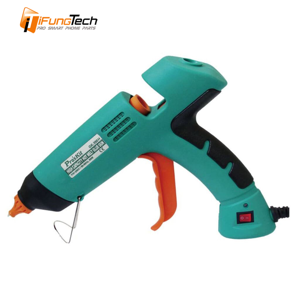 GK-390H Professional hot melt Glue gun Craft With LED melt adhesive manual syringe gun dispenser pistol melted handy heate