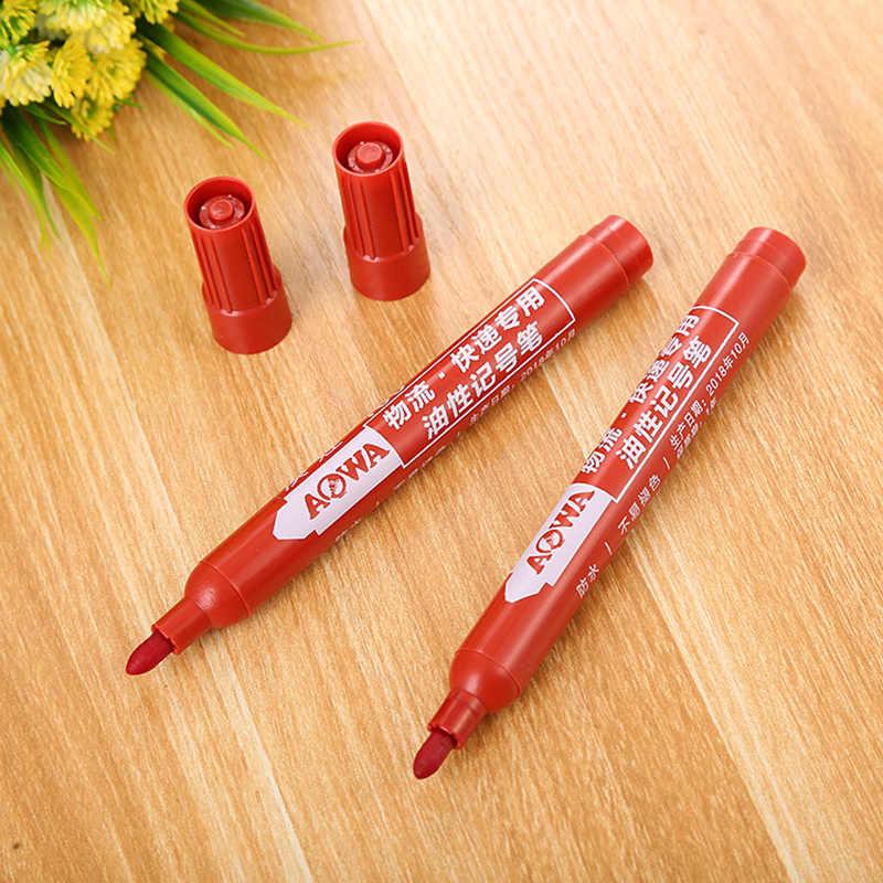 1 قطعة أزرق أحمر أسود قلم تحديد قلم شاربي مقاوم للماء دائم النفط الطلاء علامات للأقمشة CD القرطاسية اللوازم المدرسية