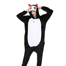 Adult Onesie Men for Women Pajamas Flannel Warm Loose Soft Sleepwear Overall Onepiece Winter Jumpsuit Cosplay
