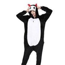 Kigurumi Onesie Men for Women Pajamas Flannel Warm Loose Soft Sleepwear Overall Onepiece Winter Jumpsuit Cosplay