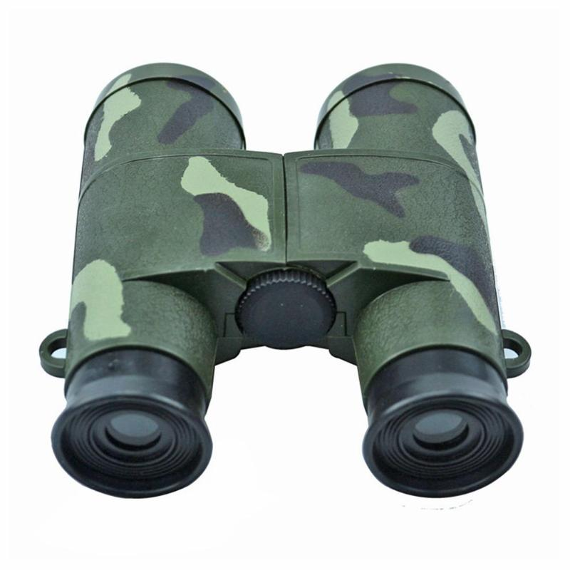 Children Kid Magnification Toy 6X Glass Lens Camouflage Binocular Telescope CS Hunting Field Survival Camouflage Telescope(China)