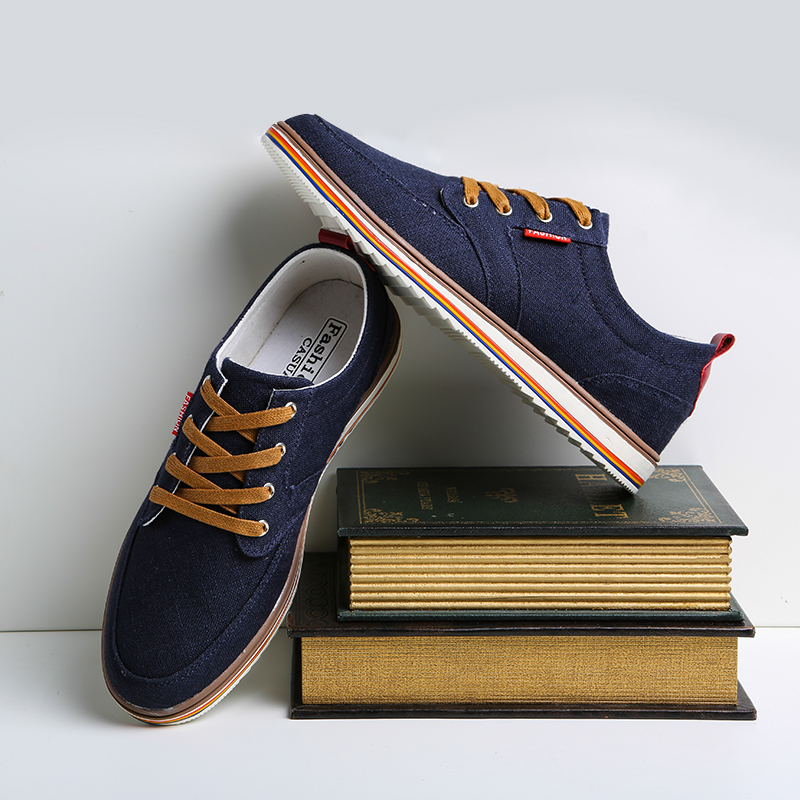 Shoes 2018 New Men Casual Shoes Canvas Breathable Laces British Fashion Sneakers Male Evening Holiday Shoes Man Men's Casual Shoes