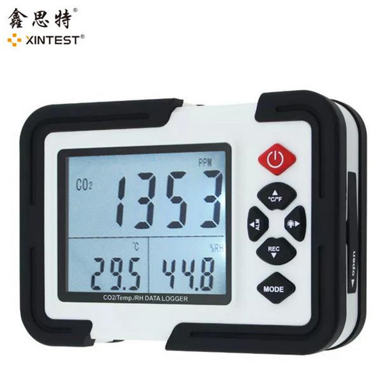 Portable Digital CO2 Meter CO2 Monitor Detector HT-2000 Gas Analyzer 9999ppm CO2 Analyzers Temperature Relative Humidity Test digital indoor air quality carbon dioxide meter temperature rh humidity twa stel display 99 points made in taiwan co2 monitor