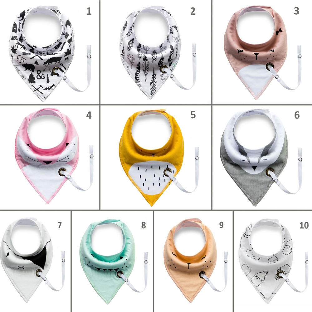 Lets make Saliva Towel Bandana Bibs Drool Bib With Snaps 10pc Adjustable Orhanic Cotton Feeding Baby Scarf Bibs Baby Teether