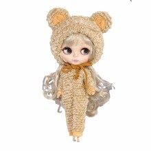 1 st. Björn jumpsuit för 30cm blyth Doll Bear Suit Outfit 1/6 presentleksaker