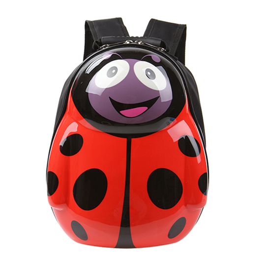 Chibelle Beetle Ladybug Backpack Kinderen Cartoon Baby Kleuterschool PVC Hard Shell Schoudertas