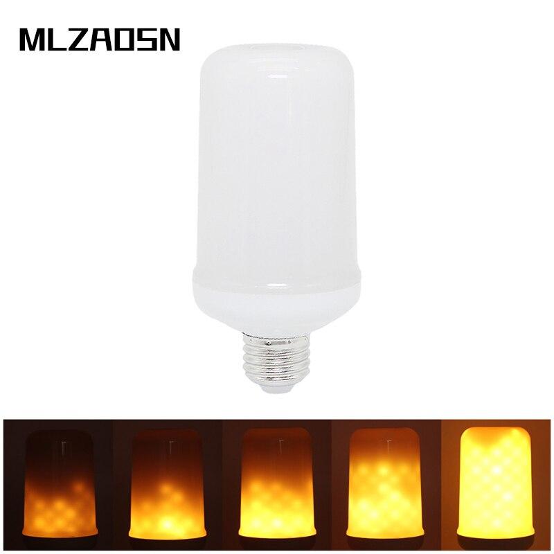 Mlzaosn Led Flame Bulb Dynamic Flicker Lamp Led Bulb Bar