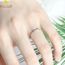 цены Flyleaf Simple Exquisite Open Rings For Women 925 Sterling Silver Elegant Jewelry Ring For Girls Kids