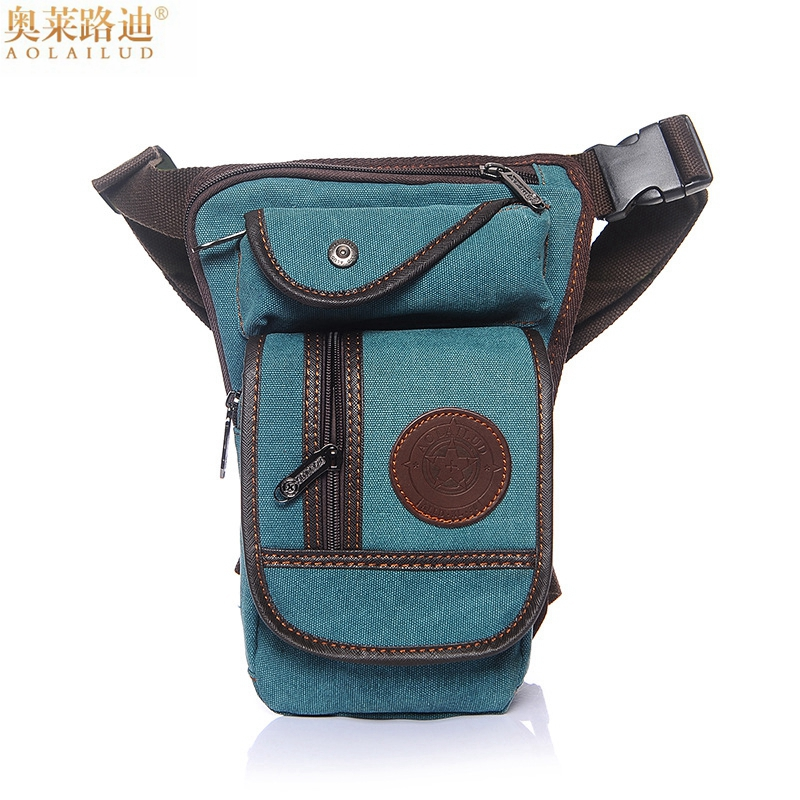 Quality Vintage Canvas Waist Pack Waterproof Military Waist Bag Men Fanny Pack Leg Bag Casual Thigh Holster Bag Belt Waist Pouch