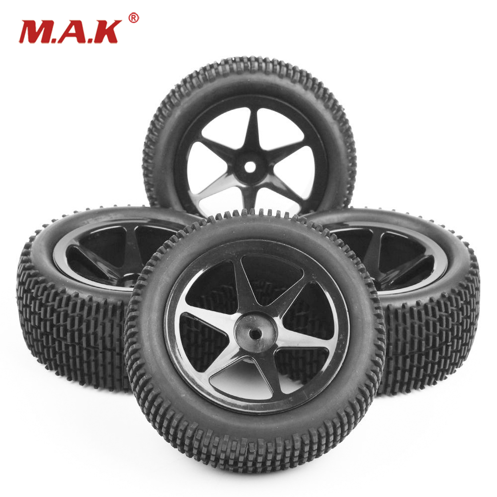 4Pcs/Set 12 mm Hex Car RC Off-Road Buggy Car Front & Rear Tyres and Wheel